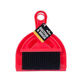 Milestone Mini Camping Dustpan And Brush Set Red