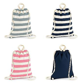 Westford Mill Ladies/Womens Nautical Gymsac