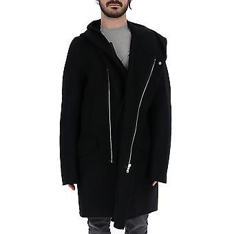 Rick Owens Ru19f4980ddw09 Men's Black Wool Coat