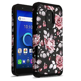 ASMYNA Astronoot Phone Case pour 5059R/1X Evolve/Avalon V - Pinky White Rose/Black