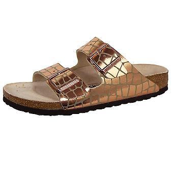 Birkenstock arizona bs women's gator gleam copper sandals