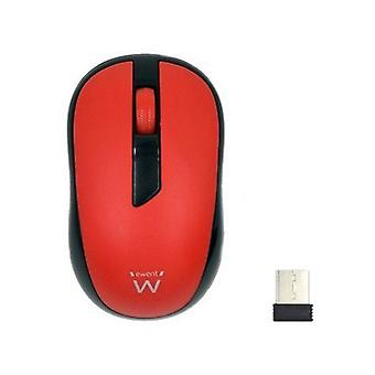 Optical wireless mouse ewent ew3226 1000 dpi red