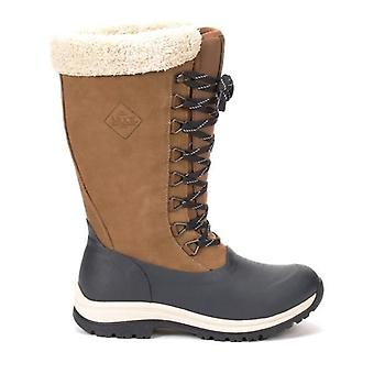 Muck Boots Arctic Apres Lace Tall Ladies Wellingtons Otter/navy