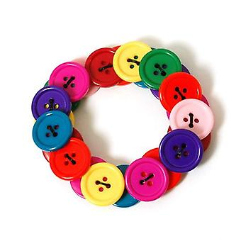 The Olivia Collection Children's Plastic Funky Coloured Button Bracelet