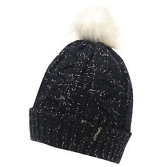 Gelert Womens Twist Lurex Pompom Hat Beanies