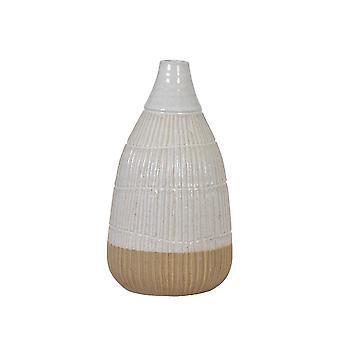 Light & Living Vase Deco 16.5x31cm Peleda White-Brown