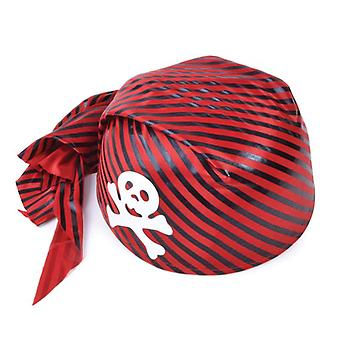 Pirate Skull Hat. Red/Black