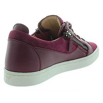 Giuseppe Zanotti Womens Brek Donna Suede Fashion Sneakers Red 38.5 Medium (B,M)