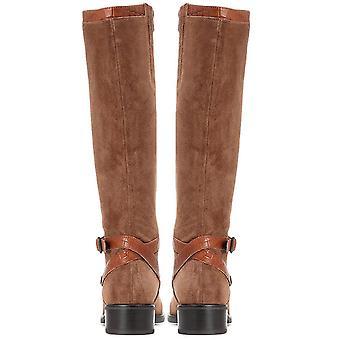 Jones bootmaker naisten nahka tasainen terävä ratsastus boot