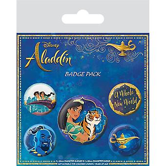Aladdin Movie A Whole New World Pin Button Badges Set