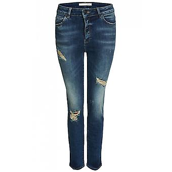 Oui Slim Fit Distressed Jeans
