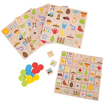 Bigjigs Toys Wooden Garden Bingo Lotto Matching Game Playset Kids Child