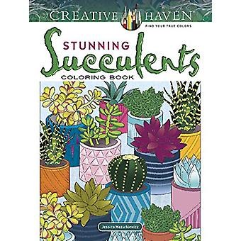 Creative Haven Stunning Succulents Coloring Book by Jessica Mazurkiew