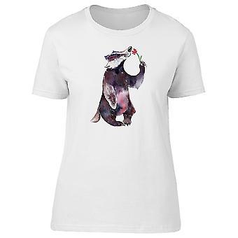 Dachs riechen eine Blume T-Shirt Women-Bild von Shutterstock