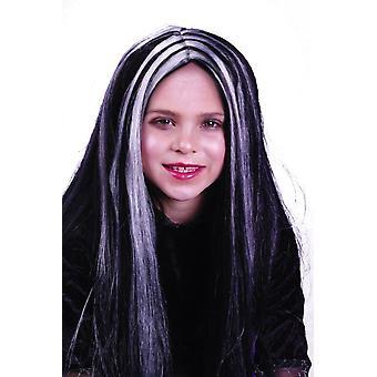 Musta valkoisia raitoja peruukki lapsille