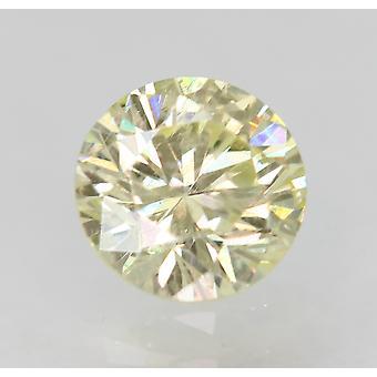 Cert 0.50 Ct Fancy Yellow VS2 Runde brillant verbessert natürlichen Diamant 4,93m 3VG