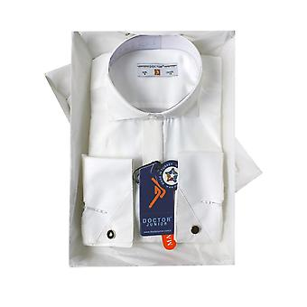 Boys Premium Wing Collar Cream Cufflink Shirt