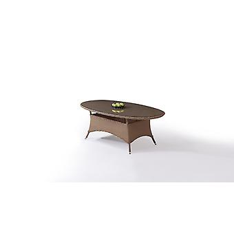 Polyrattan Esstisch Klassik 210 cm, oval - karamell