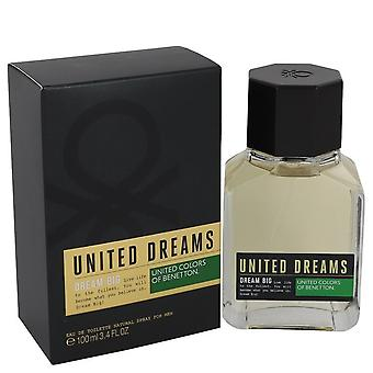 United Dreams Dream Big by Benetton Eau De Toilette Spray 3.4 oz / 100 ml (Muži)