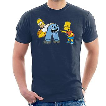 The Simpsons Naughty Bart Halloween Men's T-Shirt