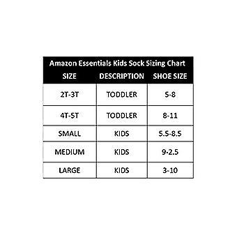 Essentials Kids' 10-Pack Cotton Crew Sock, Black, 5 to 8