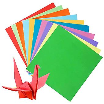 50 Sheets of 8 Inch (200mm) Assorted Coloured Origami Paper