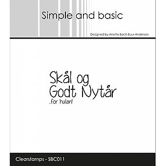 Simple and Basic Danish Texts 11 Clear Stamps