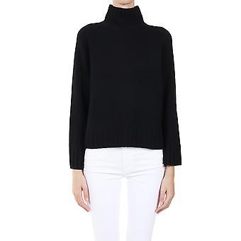 360 Cashmere 42256blk Women's Black Cashmere Sweater