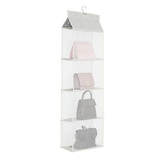 Pockets Handbag Hanging Organizer - Clear Dustproof purse Tote Bag Storage Closet Rack