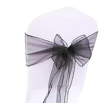 1pc Organza Chair, Sashes, Knot For Weddings Banquet Decoration