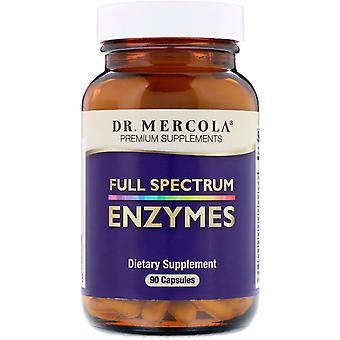 Dr. Mercola, Enzymer, Full Spectrum, 90 Kapslar