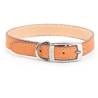 Ancol Heritage Leather Collar - Tan - Size 4 (18 inch)