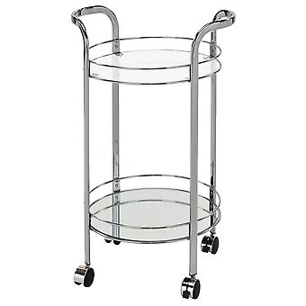Isabelle - 2 - Tier Bar Cart - Chrome