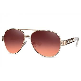 Sunglasses Unisex pilot full framed cat.3 gold/pink