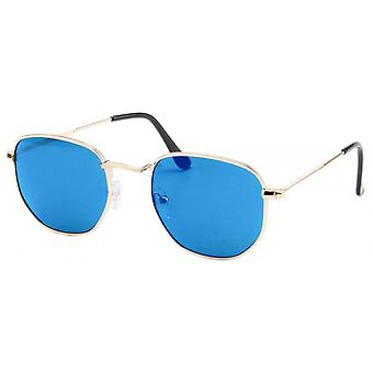 Sunglasses Unisex Gold/Ice Blue 18-084A