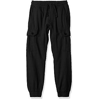 Southpole Boys' Little Jogger Pants Washed Ripstop Fabric with Cargo Pockets,...