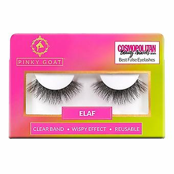 Pinky Goat Reusable Faux Mink Lashes - Elaf - Wispy Effect Lightweight Falsies