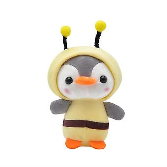 1pcs Pluche Cute Penguin Bee Animal Pluche- Ring Key Holder Bag Decor Kids
