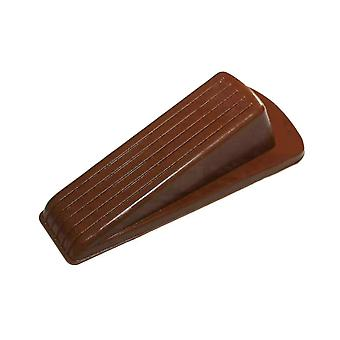 4pcs 3.1*12*3.2cm Rubber Door Stopper Large Brown Reinforced