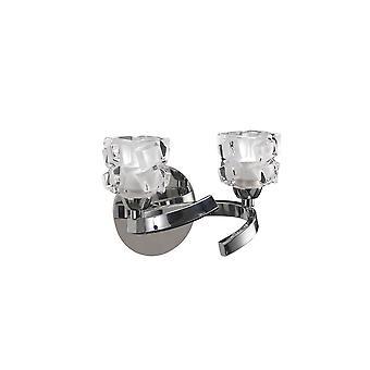 Inspireret Mantra - Ice - Væglampe Switched 2 Light G9 ECO, poleret Chrome
