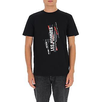 Les Hommes Ljt224710p9000 Men's Zwart Katoen T-shirt