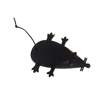 Little Mouse Shape Silicone Door File Black