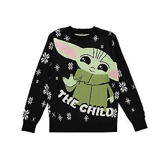 The Mandalorian Knitted Christmas Jumper The Child Baby Yoda new Official Unisex