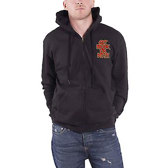 Alestorm Hoodie Get Drunk Or Die Band Logo new Official Mens Black Zipped