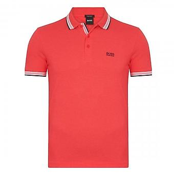 Boss Green Hugo Boss Paddy Pique Polo Red Pink 50398302
