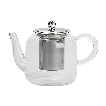 Argon Servies Clear Glass Teapot met Infuser voor Loose Leaf Tea - 800ml