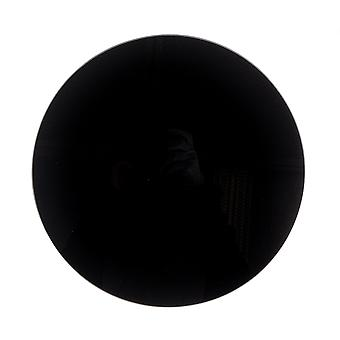 Glass Worktop Saver - Modern Style Round Chopping Board - Black - 30cm