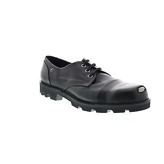 Diesel Hardkor Steel Low Mens Black Leather Cap Toe Oxfords & Lace Ups Shoes