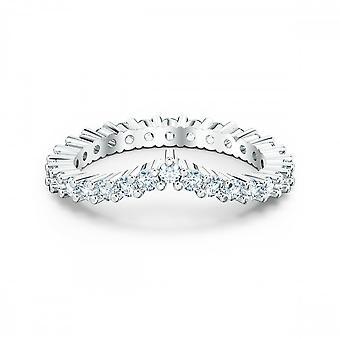 טבעת של סוורובסקי ויטקרע בציפוי רודיום לבן
