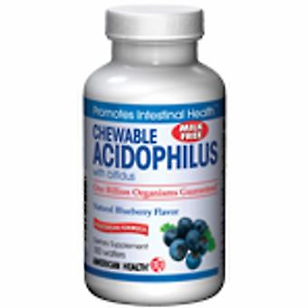 American Health Acidophilus with Bifidum , Blueberry flavor, 100 Wafers
